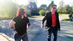 Jennifer Lundqvist ja Kristoffer Park ovat sosialidemokraattien paikallisjärjestöjen vetäjiä.