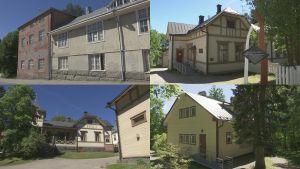 Kuvakollaasi Juomatehdas, Beckerin talo, Kirjailijan talo, Jyväskylä
