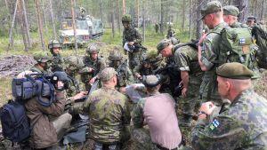 Maavoimien taistelu- ja ampumaharjoitus Pohjoinen 18 Rovajärven harjoitusalueella 24.5.–7.6.2018.