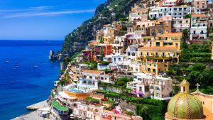 Positano, Amalfin rannikolla Italiassa.