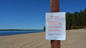 Kirkkorannan lisäksi Kuortaneenjärvellä uintikieltoon joutuvat virusten takia nyt myös Salmen ja Ruonan ranta.