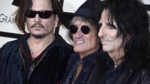 Johnny Depp, Joe Perry ja Alice Cooper.