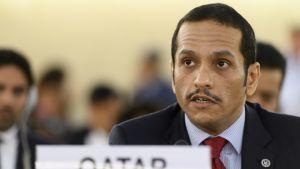 Qatarin ulkoministeri Mohammed bin Abdulrahman bin Jassim Al Thani.