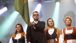 Mirja Vehkaperä, Juha Sipilä, Katri Kulmuni ja Elsi Katainen