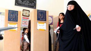 Irakilaiset äänestivät 12. toukokuuta.