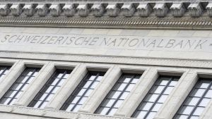 Sveitsin keskuspankki SNB Zürichissä.