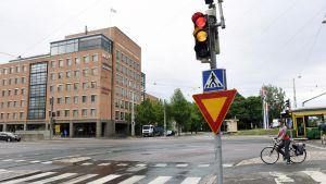Risteys Helsingin Ruskeasuolla.