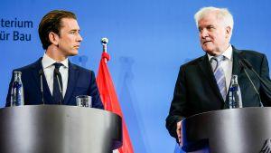 Sebastian Kurz ja Horst Seehofer