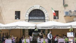 Ravintola Rooman Piazza Navonalla.