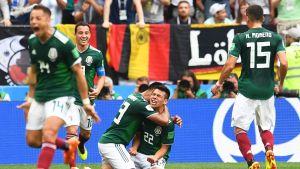 Meksiko juhlii maaliaan Saksaa vastaan.
