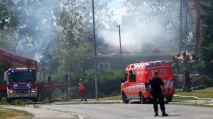 Omakotitalo paloi Härmälässä