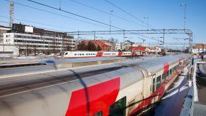 Oulun rautatieasema.