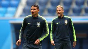Thiago Silva ja Neymar