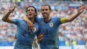 Edinson Cavani ja Diego Godin.