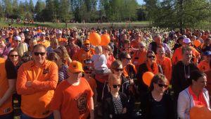 Kultajuhlien yleisöä Kauhajoella 19.5.2018