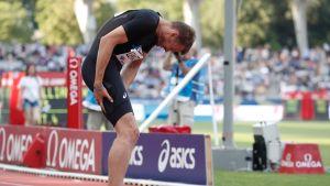 Christophe Lemaitre pitelee jalkaansa.