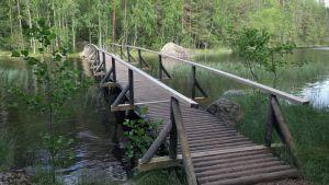 Kannusalmen silta Isojärven kansallispuistossa.