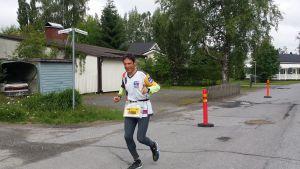 Juoksija ultrajuoksutapahtumassa Kauhajoella