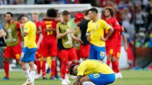 Neymar Brasilia-Belgia -ottelun jälkeen