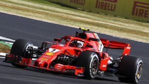 Kimi Räikkönen Britannian GP:n harjoituksissa 2018.