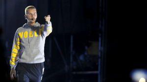 Pop-tähti Justin Bieber esiintyi Santiagossa, Chilessä maaliskuussa 2017.