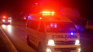 Ambulanssi kadulla.