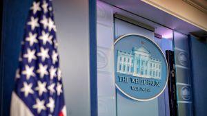 Valkoisen talon lehdistöhuone.