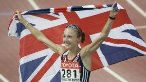 Paula Radcliffe maailmanmestari Helsingissä 2005