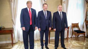 Donald Trump, Vladimir Putin ja Sauli Niinistö