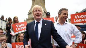 Keväällä 2016 Lontoon silloinen pormestari Boris Johnson kampanjoi aktiivisesti EU-eron puolesta.