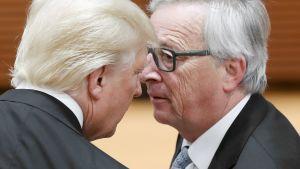 Donald Trump ja Jean-Claude Juncker tapaavat G20-kokouksessa Hampurissa