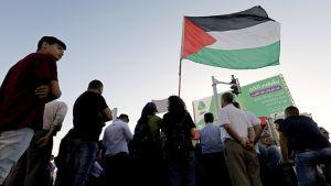 Palestiinalaisten mielenosoitus Beetlehemissä.