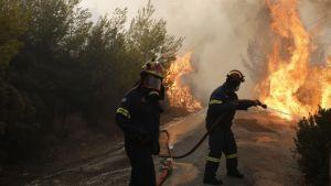 Palomiehiä Kreikassa