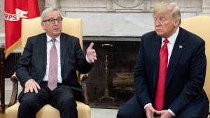 Jean-Claude Juncker ja Donald Trump tapaavat Washingtonissa.