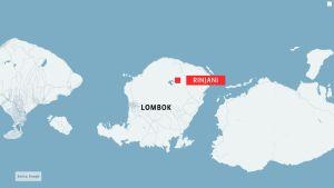 Lombokin saaren kartta.