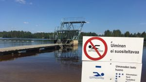 Uimakielto kesäniemi uimaranta