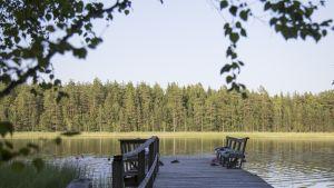 Laituri järvellä