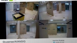 Yhtiöt esittelevät lentävää valvontakameraansa Vimeo-palvelussa.