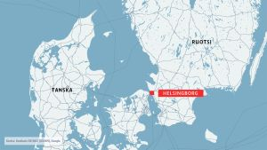 ruotsin kartta jossa Helsingborg