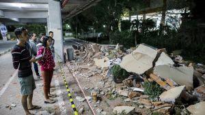 Voimakas maanjäristys vavisutti Lombokin saarta Indonesiassa jo toisen kerran viikon sisällä. Useita rakennuksia vauroitui maanjäristyksessä.