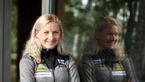 Marika Teini suunnistuksen MM-kisoissa 2018. Latvia.