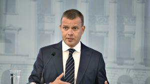 Valtiovarainministeri Petteri Orpo esittelee vuoden 2019 budjettiehdotuksensa.
