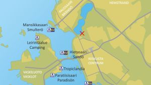 Karttakuva Vaasasta
