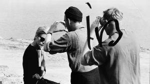 Bergman suunnitelemassa kuvaa