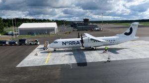 Norran lentokone Tampere-Pirkkalan lentokentällä