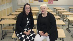 Kasvatustieteen tohtorit Eliisa Leskisenoja ja Erja Sandberg.