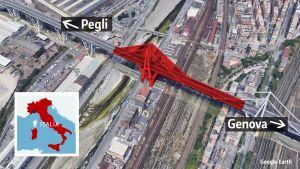 Italian siltaonnettomuusgrafiikka