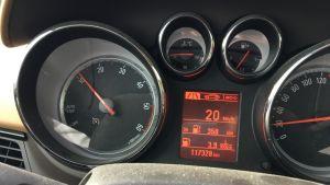 Henkilöauton mittaristo