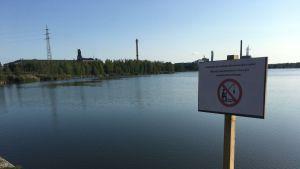 Kalastamista Onkilahdella ei suositella.