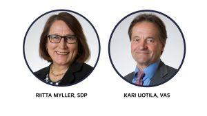 Riitta Myller ja Kari Uotila